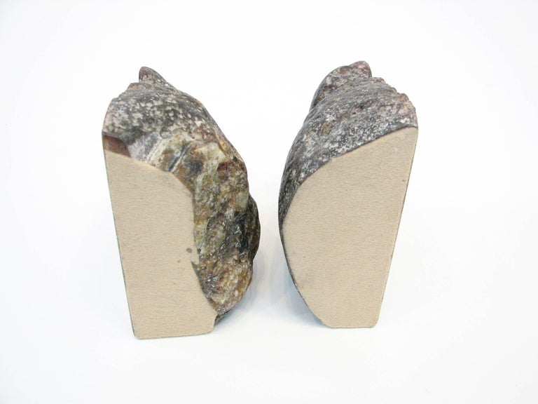 Mid-20th Century Pair of Mid-Century Brazilian Agate Bookends For Sale