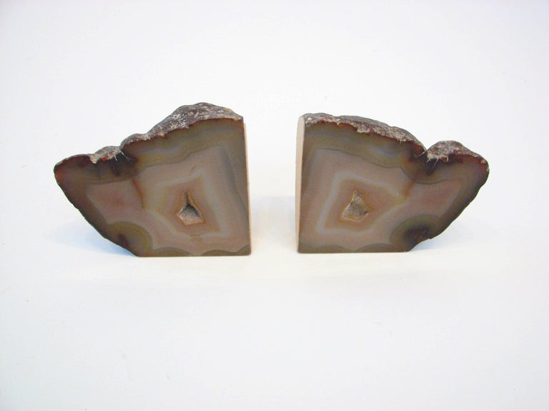 Mid-Century Modern Pair of Mid-Century Brazilian Agate Bookends For Sale
