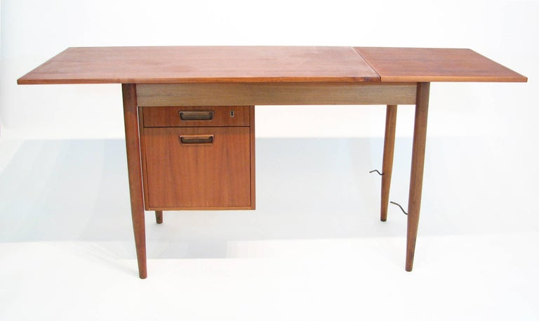 Danish Versatile Mid-Century Teak and Rosewood Desk by Gunnar Nielsen Tibergaard For Sale