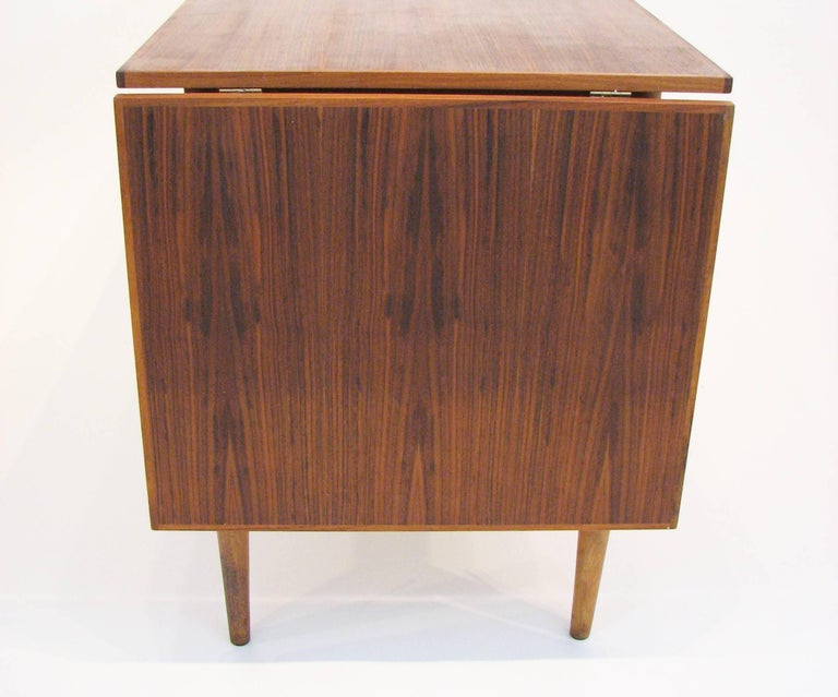 Mid-20th Century Versatile Mid-Century Teak and Rosewood Desk by Gunnar Nielsen Tibergaard For Sale