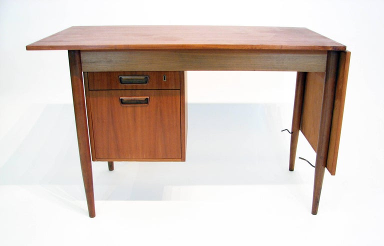 Scandinavian Modern Versatile Mid-Century Teak and Rosewood Desk by Gunnar Nielsen Tibergaard For Sale