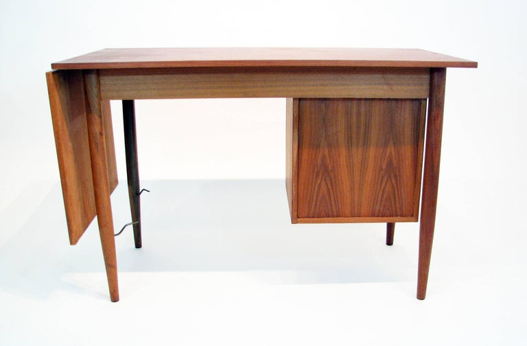 Versatile Mid-Century Teak and Rosewood Desk by Gunnar Nielsen Tibergaard For Sale 1