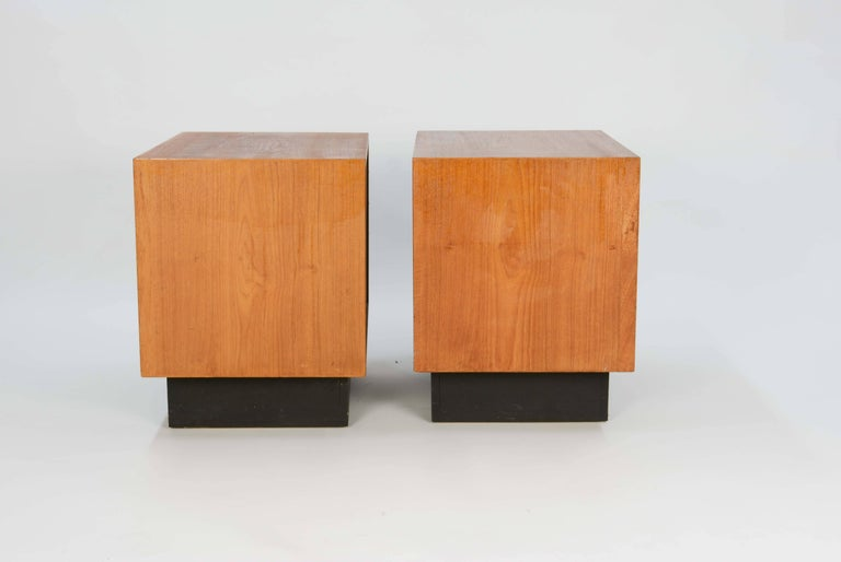 Mid-20th Century Pair of Drylund or Denmark's Nightstands in Teak After Arne Vodder For Sale