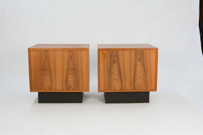 Pair of Drylund or Denmark's Nightstands in Teak After Arne Vodder For Sale 1