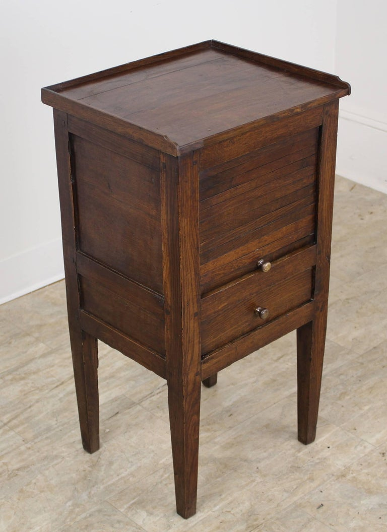 Antique Oak Tambour Fronted Side Cabinet 2