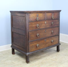 Very Early English Oak Chest of Drawers