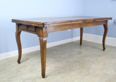 Antique Oak Dining Table with Hoof Feet, Extends to 12 Feet Long