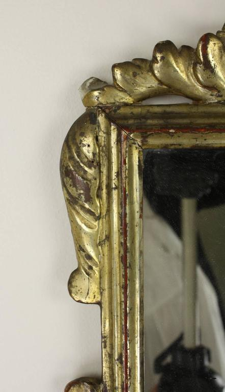 Antique Italian Baroque Gilded Mirror In Good Condition For Sale In Port Chester, NY