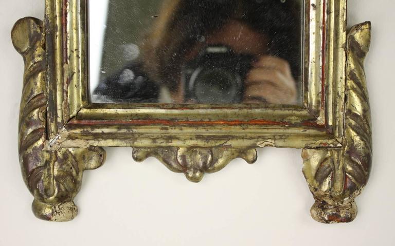 19th Century Antique Italian Baroque Gilded Mirror For Sale