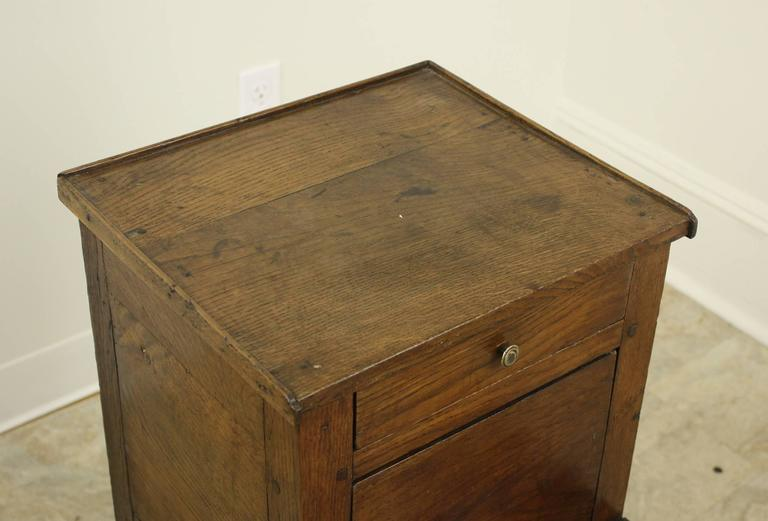 19th Century Antique French Oak Side Cabinet For Sale