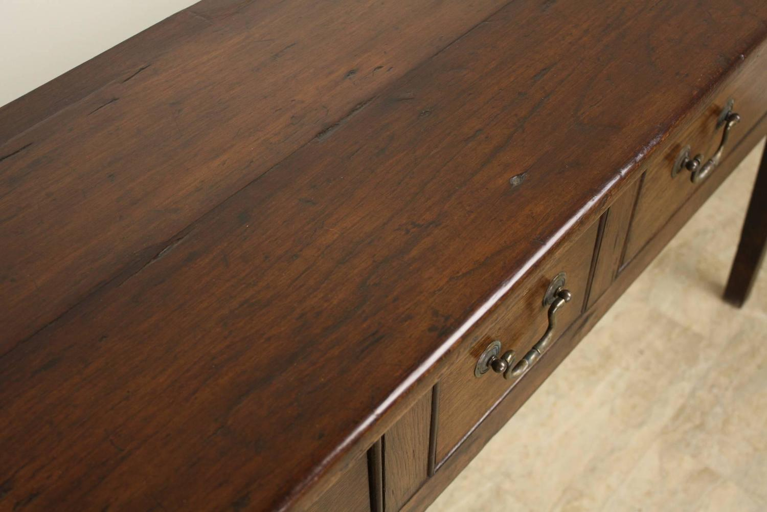 Antique French Three-Drawer Cherry Server at 1stdibs