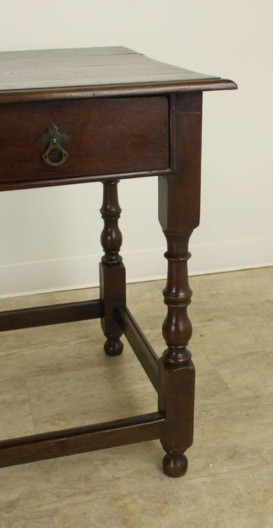 Period Welsh Oak Side Table Turned Legs At 1stdibs