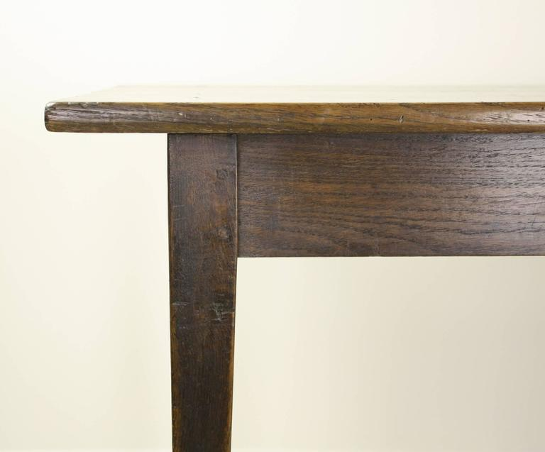 Antique French Dark Oak Farm Table For Sale at 1stdibs