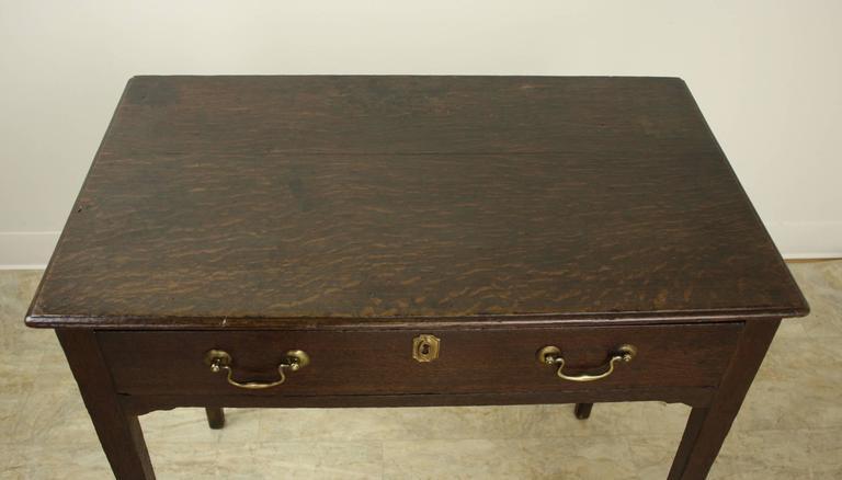 Vintage Table Hardware : Early antique welsh oak side table with original hardware