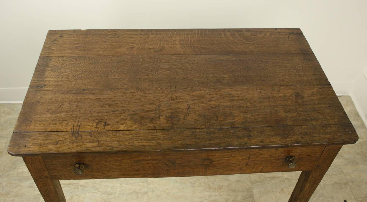 Antique Oak Side Table At 1stdibs. Full resolution  photograph, nominally Width 1500 Height 828 pixels, photograph with #4B341B.