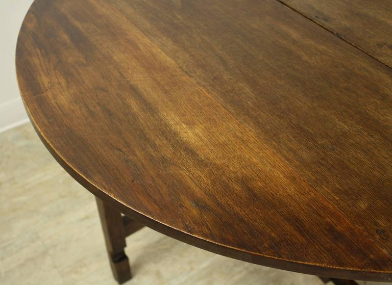 Period English Oak Gateleg Dining Table For Sale 2