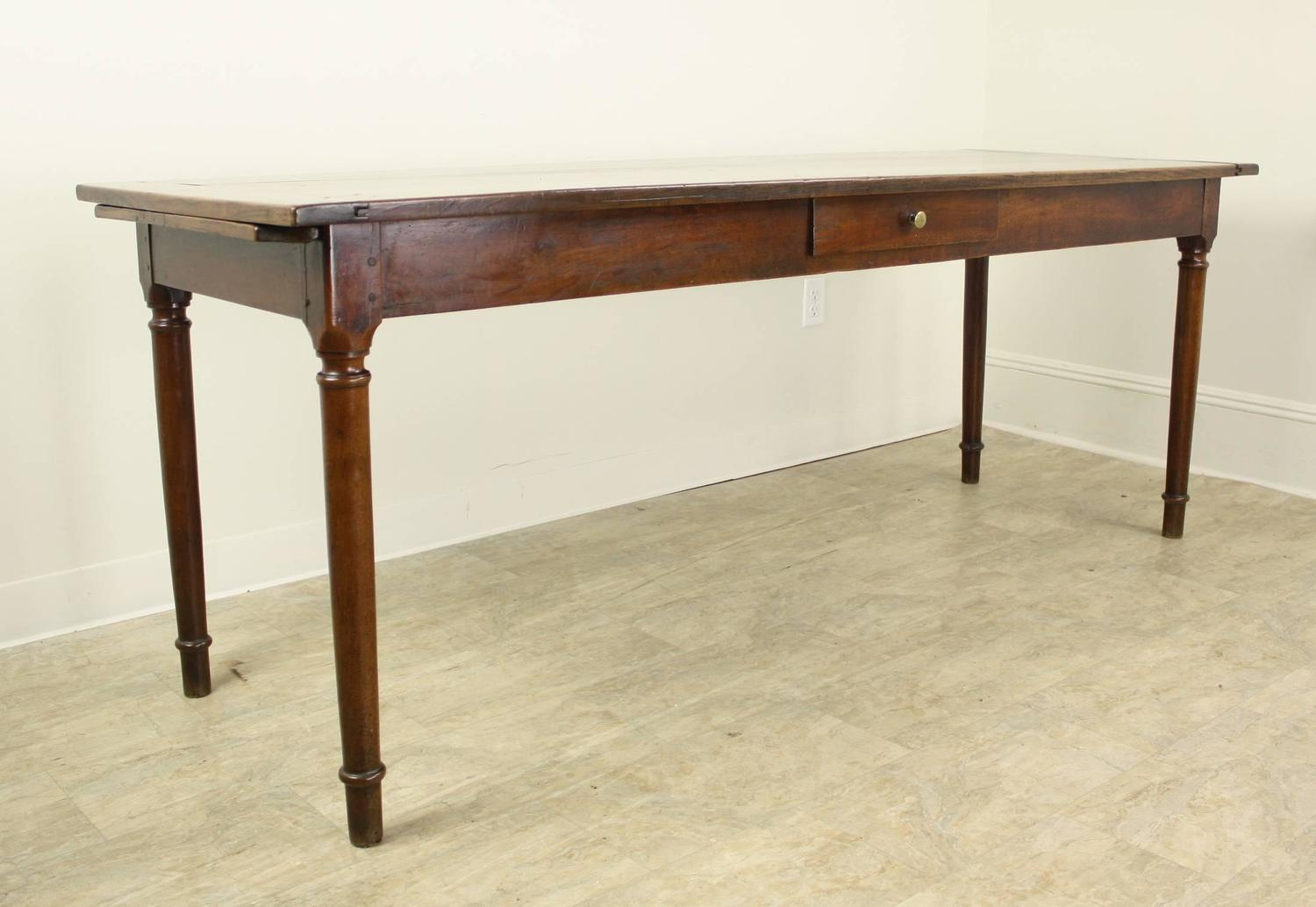 Antique one drawer light cherry server narrow dining table for Thin dining table