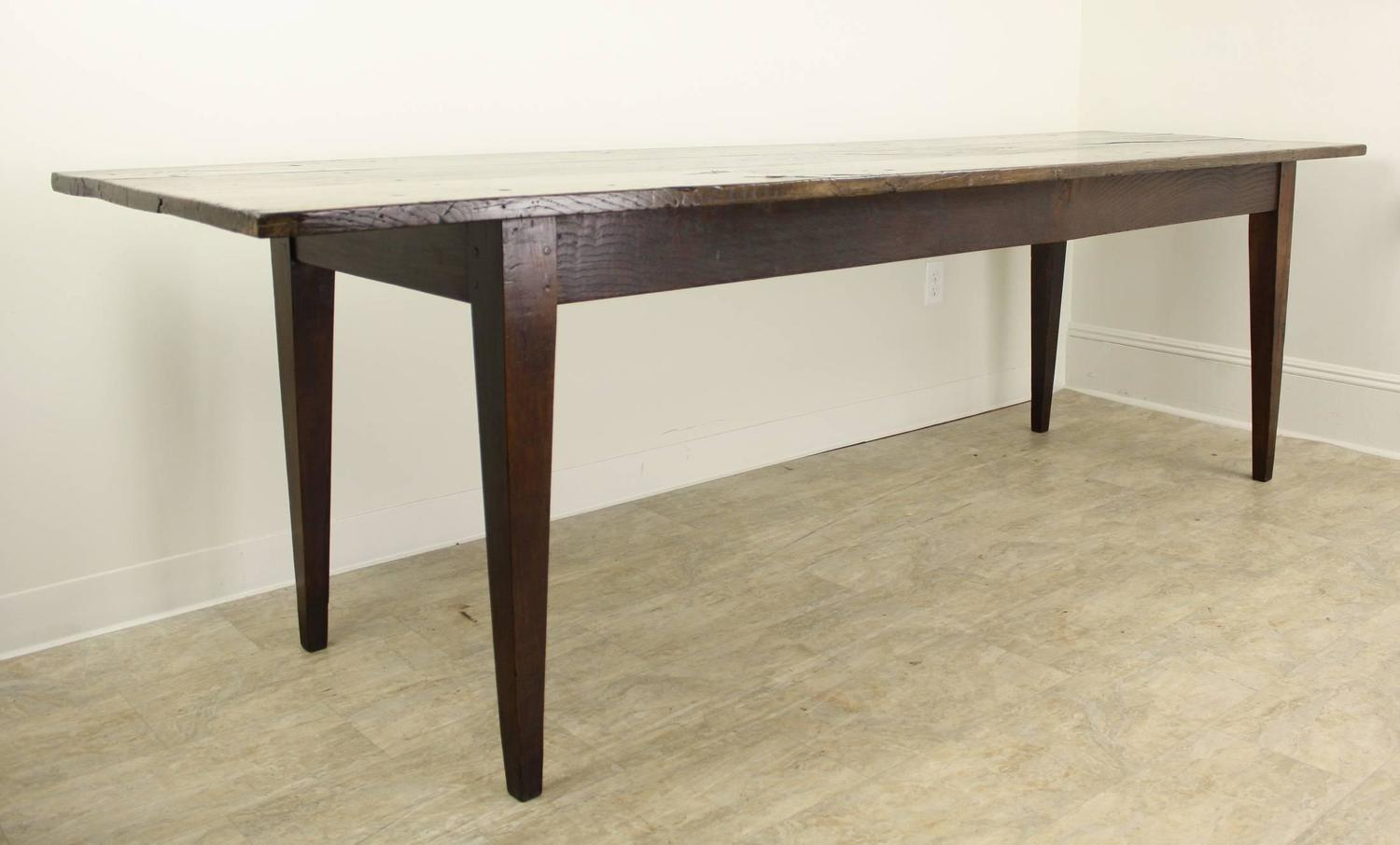 Long Antique French Chestnut Farm Table For Sale At 1stdibs