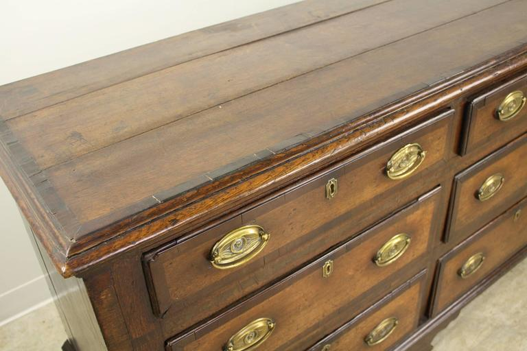 Antique English Oak Long Chest For Sale 2