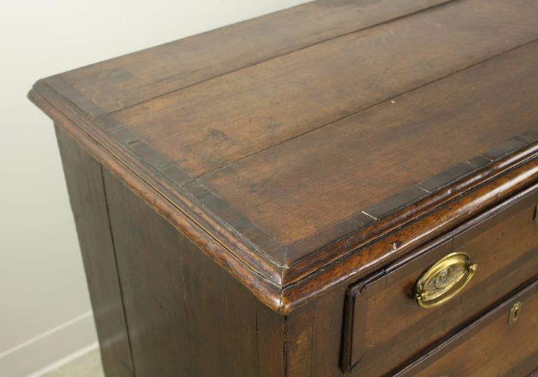 Antique English Oak Long Chest For Sale 4