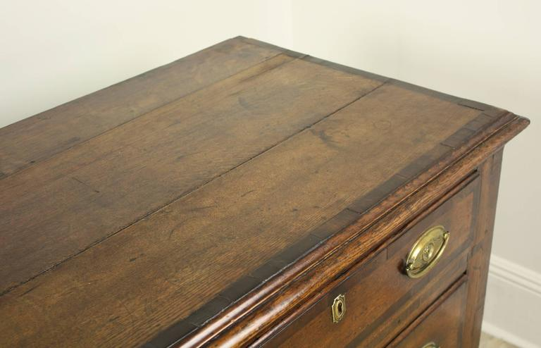 Antique English Oak Long Chest For Sale 5