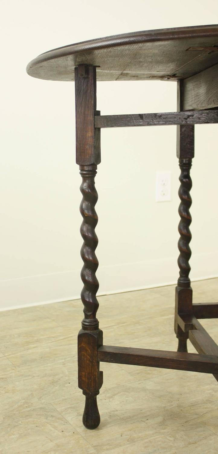 Small Barley Twist Gate Leg Drop Leaf Table For Sale At