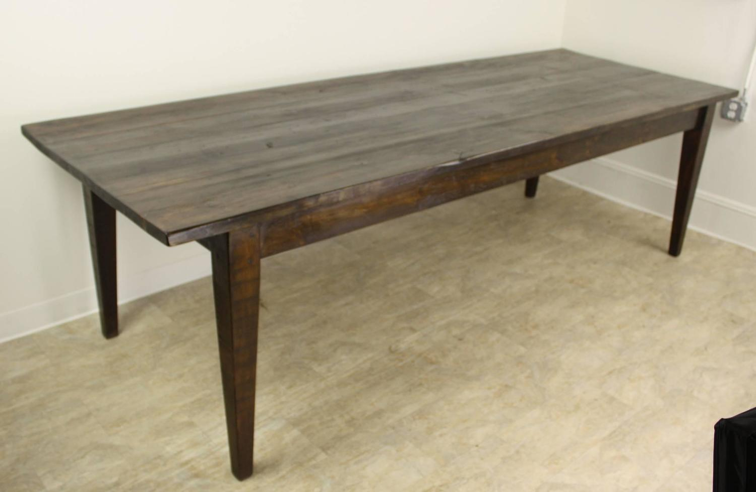 Dark pine dining table for sale at 1stdibs for Pine dining room table