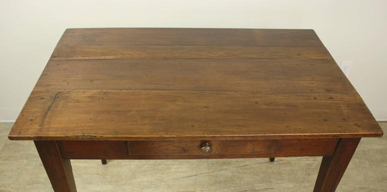 Antique French Cherry Side Table Or Small Desk In Good Condition For Port Chester