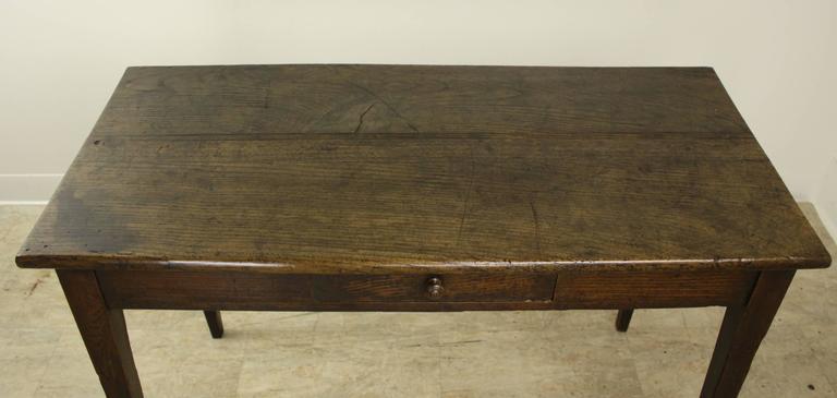 narrow writing table