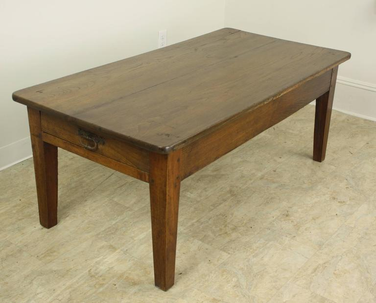 Antique Oak Coffee Table With One Drawer At 1stdibs