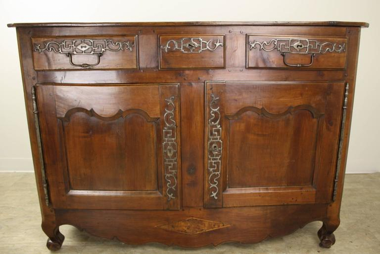 Exceptional antique cherry snail foot buffet for sale at