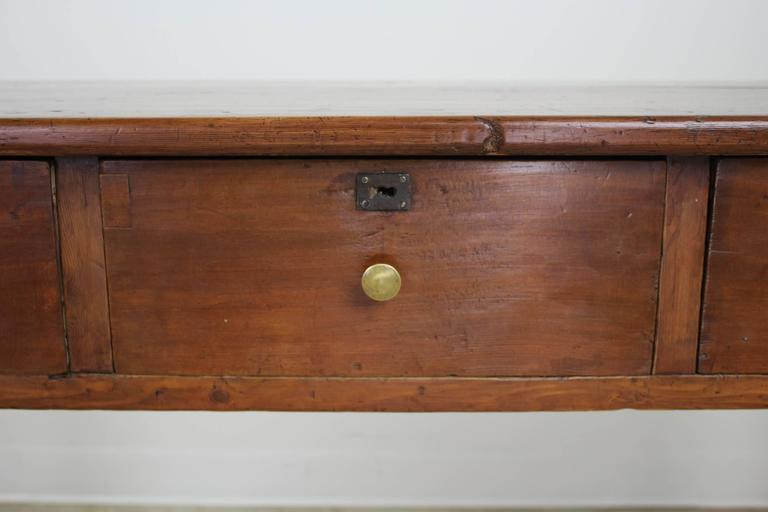 Antique Three Drawer Pine Server At 1stdibs