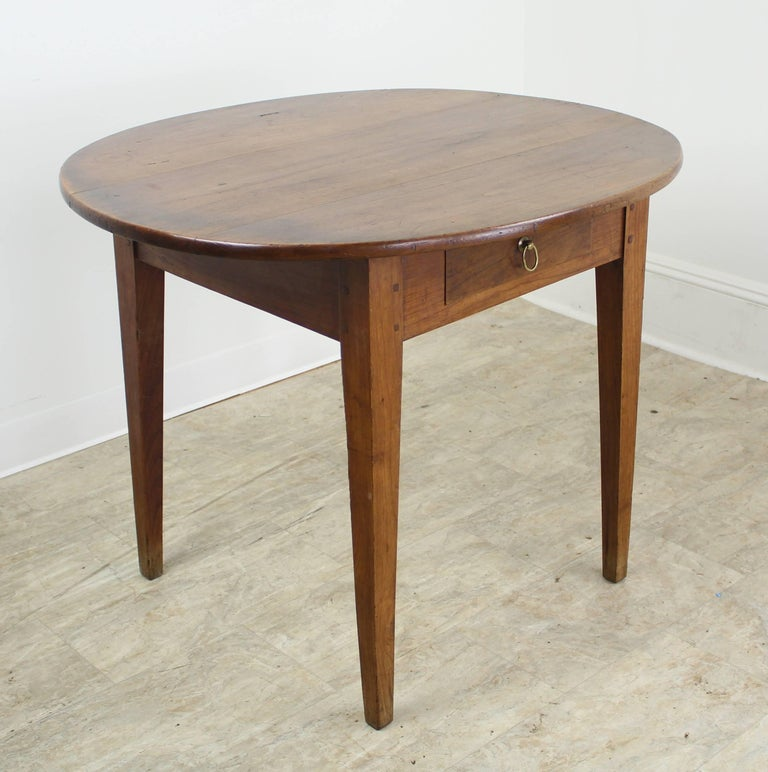 Cherry Side Table ~ Antique oval cherry side table at stdibs