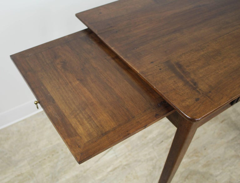 Antique Walnut Side Table with Side Extensions For Sale 1