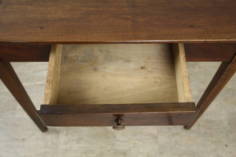 Antique Walnut Side Table with Side Extensions For Sale 2