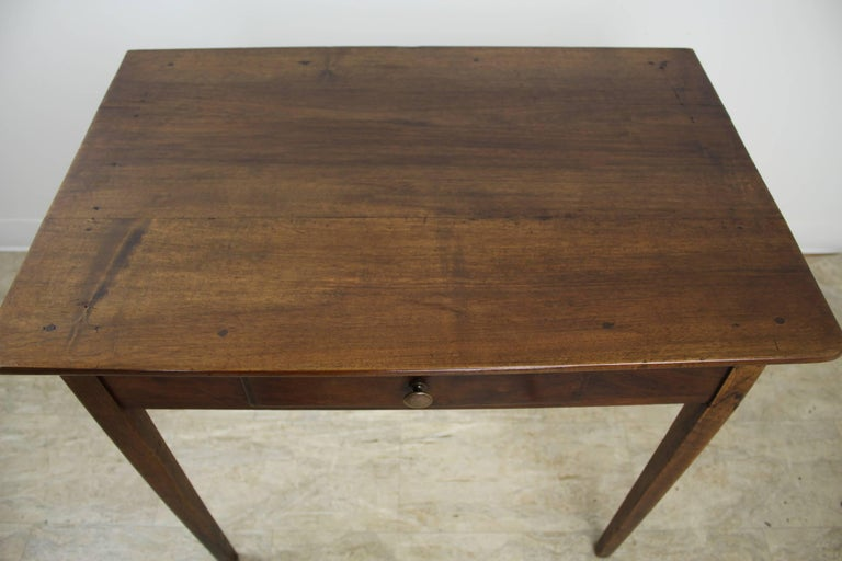 19th Century Antique Walnut Side Table with Side Extensions For Sale