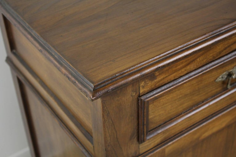 Antique French Two-Door Elm Buffet For Sale 2