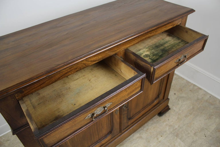 Antique French Two-Door Elm Buffet For Sale 3