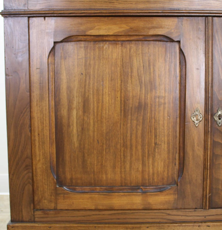 Antique French Two-Door Elm Buffet For Sale 6