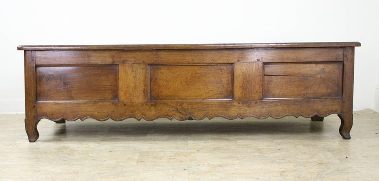 French Fancifully Carved Louis XV Chestnut Coffer For Sale