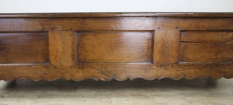 Fancifully Carved Louis XV Chestnut Coffer In Good Condition For Sale In Port Chester, NY
