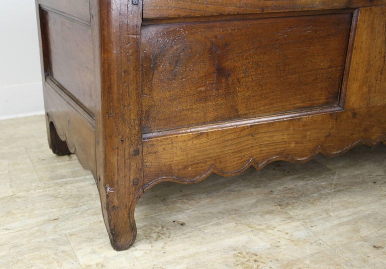 19th Century Fancifully Carved Louis XV Chestnut Coffer For Sale