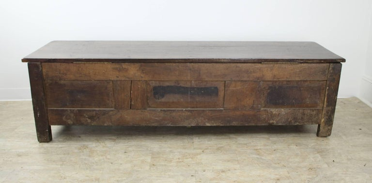 Fancifully Carved Louis XV Chestnut Coffer For Sale 3