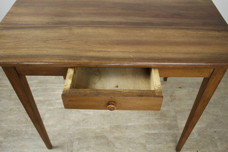 19th Century Antique Walnut Side or Writing Table For Sale