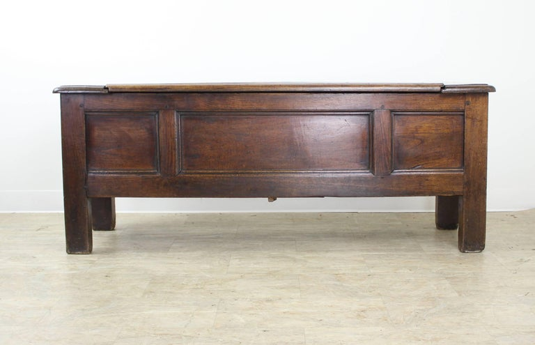 Antique French Chestnut Coffer 2
