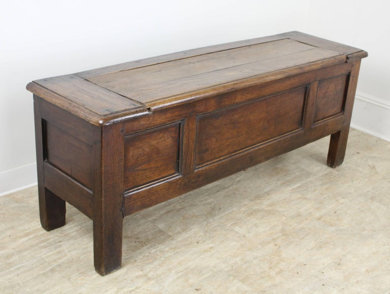Antique French Chestnut Coffer 3