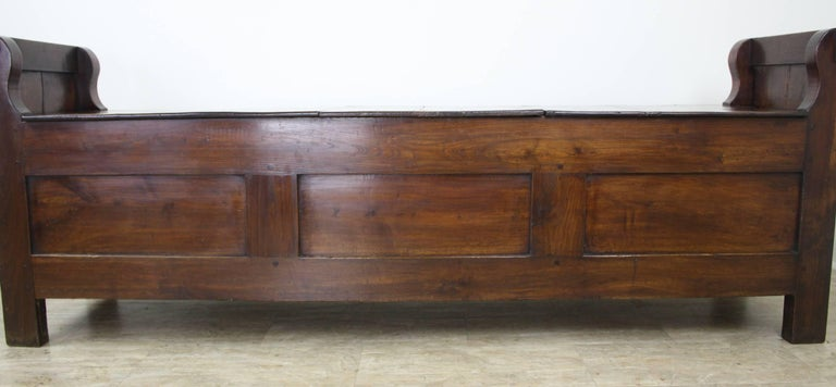 Late 19th Century Antique French Chestnut Coffer For Sale