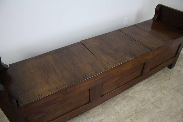 Antique French Chestnut Coffer For Sale 3