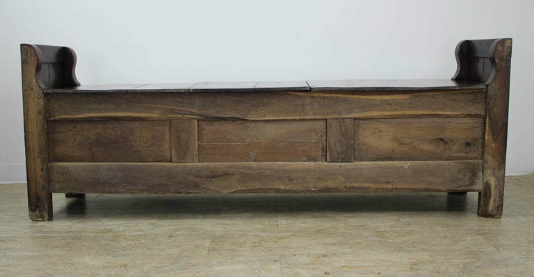 Antique French Chestnut Coffer For Sale 6