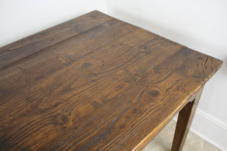 Long Antique French Pine Farm Table For Sale 3